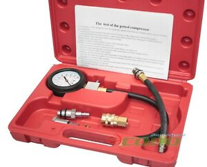 Tu 3 Mult Function Engine Cylinder Compression Tester Diagnostic Meter Gauge Kit