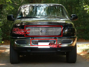 Fits 1997 1998 Ford Expedition Billet Grille Grill Combo Insert