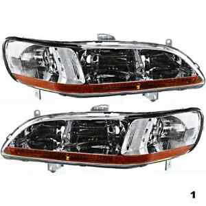 Fits 98 00 Accord Left Right Headlamp Assemblies Pair