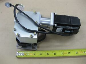 Lot Yaskawa Sgmah 02baa41 200w Ac Servo Motor With 90 Degree Gear Reducer Belt