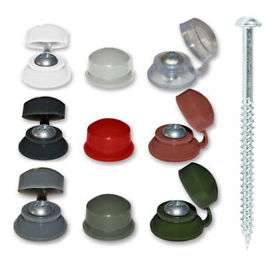 Black Clear Grey Caps Screws Corrugated Roofing Plastic Screw Cover