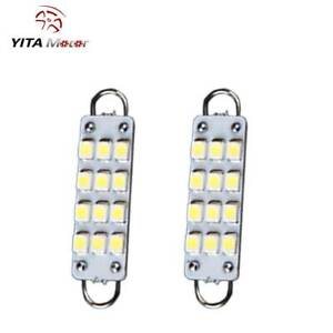 2x 44mm 12smd Rigid Loop White Festoon Dome Map Led Light Bulbs 561 562 563 564