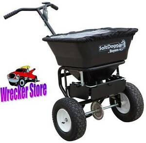 Salt Dogg Buyers Wb101g Walk behind Sand Salt Spreader 100 Lb Capacity