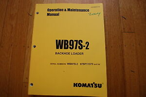 Komatsu Wb97s 2 Backhoe Loader Operation Maintenance Manual Book Operator Guide
