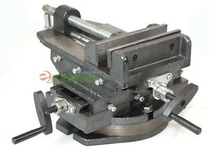Hd 6 Cross Vise Two Way Slide 360 Swivel Vise Drill Press Milling Machine
