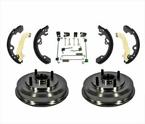 Rear Drums Wheel Bearings Brake Shoes And Hardware For Ford Focus 00 08