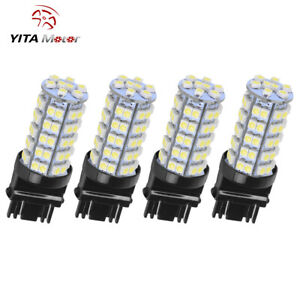 4x New White 3157 Turn Signal Stop Interior Led Bulbs 68 Smd T25 3057 3457 4157