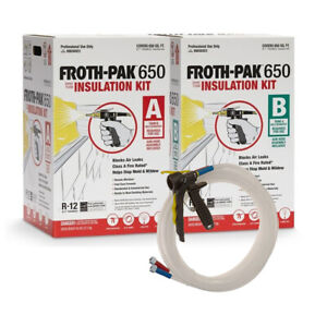 Spray Foam Insulation Kit Dow Froth Pak 650 Class A Fire Rated