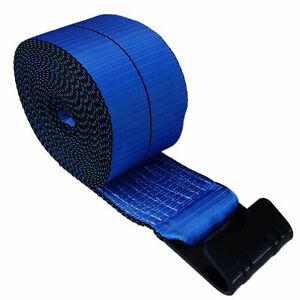 5 Blue 4 x30 Winch Straps Flat Hook Flatbed Truck Trailer Tie Down Strap Fh