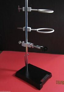 Heavy Cast Iron Stand With Micro Clamp 2 Retort Holder Funnel Stand Lab Kit 7x5