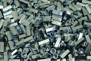 250 Hex Coupling Nuts 5 16 18 X 7 16 X 7 8 Threaded Rod Connector Zinc