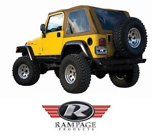Rampage Frameless Trail Top W Tint Spice Fits 1997 2006 Jeep Wrangler Tj