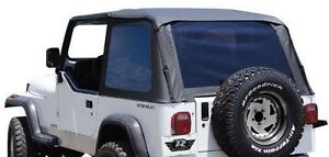 Rampage Frameless All Season Trail Top Fits 92 95 Jeep Wrangler Yj 109435 Black