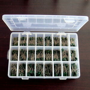 Polyester Film Capacitor Assortment Kit 24values 480pcs Packed In A Box