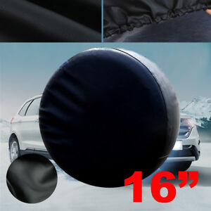 16 Black Spare Wheel Tire Cover Heavy Vinyl Easy Install Protector 29 30 31