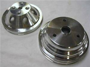 Small Block Chevy Lwp Aluminum 1 2 Groove Water Pump Crankshaft Pulley Kit