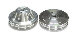 Big Block Chevy Swp Aluminum 2 Double Groove Water Pump Crankshaft Pulley Kit