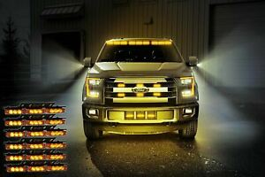 Zone Tech 54 Led Amber Emergency Warning Strobe Lights Bars Car Dash Grille Tow