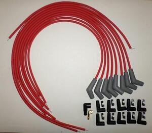 Bbc Chevy 396 427 454 502 Red Universal Hei Spark Plug Wires 45 135 Degree Boots