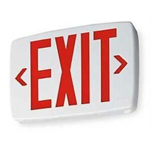 Lqm S W 3 R 120 277 El N M6 Lithonia Led Exit Sign With Battery