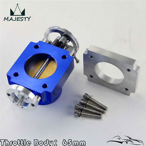 Alloy Aluminum Universal Cnc Billet Intake Throttle Body 65mm 2 5 inch Racing