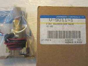 New Johnson Controls 3 Way Solenoid Air Valve V 9011 1 12v Lots More Listed