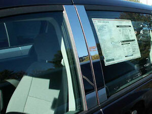 Dodge Grand Caravan Chrome Pillar Post Trim Stainless Steel 4pc 2008 2016