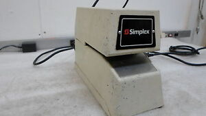 Simplex 1605 9001 Time Stamp 1605 Time Clock Tested