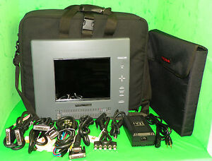 Proxima Ovation 920 Color Lcd Projection Panel Travel Case Lots Cables Remote