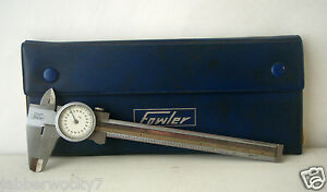 Vintage Fowler Stainless Steel 6 Dial Caliper 001 Made In Germany