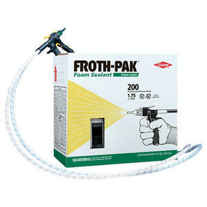 Spray Foam Insulation Kit Dow Froth pak200 Sealant 200 Board Feet