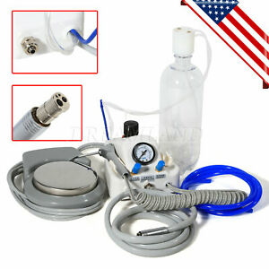 New Dental Portable Turbine Unit Work With Compressor 4h Air W Water Bottles