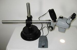 Bausch Lomb Stereoscopic Stereo Zoom Microscope W All Metal Industrial Stand
