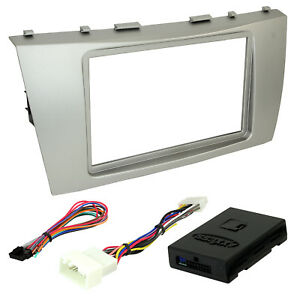 95 8218s Double Din Radio Install Dash Kit Amp Turn on For Camry Car Stereo