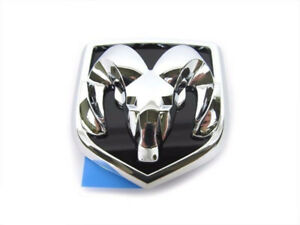 04 09 Dodge Dakota Durango Chrome Rams Head Badge Emblem For Grille New Mopar