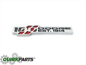 Dodge Charger Challenger 100th Anniversary Emblem Nameplate Badge Oem New Mopar
