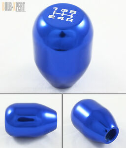 M10 X 1 25 5 Speed Manual Aluminum Blue Shift Shifter Knob For Nissan Models