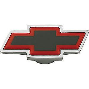 Gm 141 333 Chevy Bowtie Black Red Chrome Spinner Air Cleaner Wing Nut 1 4 20