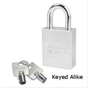 American Lock A7200ka Tubular Padlock 1 1 8 Shackle Keyed Alike