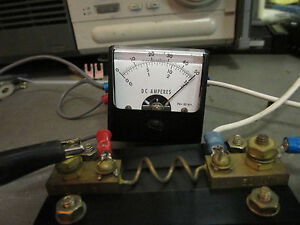 Dc Amp Panel Meter 0 50a 0 15a 0 3a Fs 50 Mvdc Simpson Mm7505 3 Tested Good