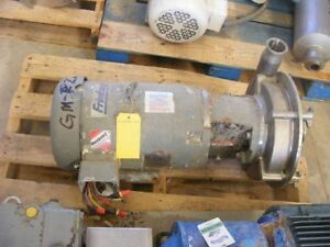 Fristam Model Frp3451 Centrifugal Pump Rated Approx 225 Gpm 50 Hd 3 X 2