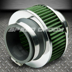 2 75 Racing High Flow Cold Air Intake Dry Bypass Valve Rubber Green Filter Clamp