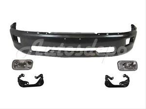 For 2009 2012 Dodge Pickup Ram 1500 Front Steel Bumper Grey Fog Light Bracket 5p
