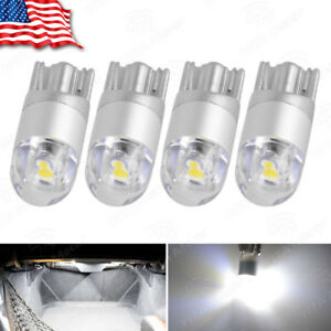 4x Super White T10 3030 2 smd Led Dome Map License Plate Light Bulb W5w 194 2825