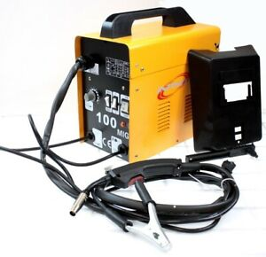 220v Mig100 Gas less Flux Core Welder 90 Amp Variable Wire Feed Welding Machine