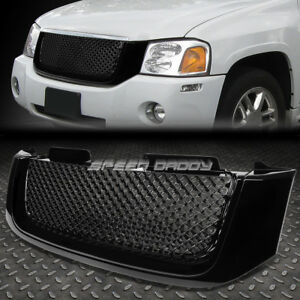 02 08 Gmc Envoy Black Front Hood Bumper Bentley Style Grill grille Cover Guard