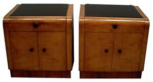 Art Deco Nightstands Pair C 1920 6253