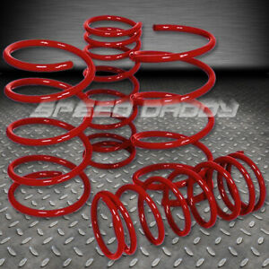 2 Drop Suspension Lowering Springs Fits 95 99 Nissan Maxima Gle Gxe A32 Red