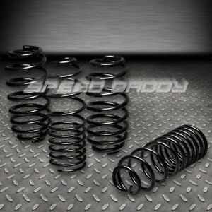 1 25 Drop Suspension Lowering Springs Spring 06 12 Vw Golf Rabbit S Tdi R Black