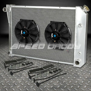 For 73 74 Buick Apollo chevy Nova omega ventura 3 Row Aluminum Radiator 10 Fan